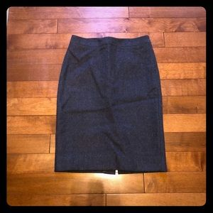 J. Crew No. 2 pencil skirt charcoal wool